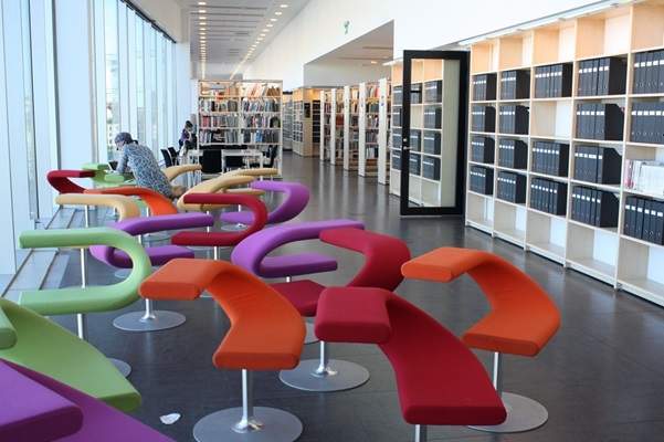 What is the use of furniture's in the library?